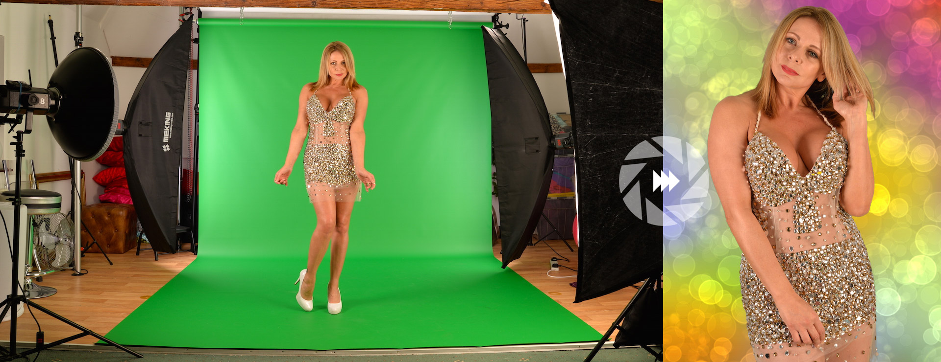 Green Screen Before and After