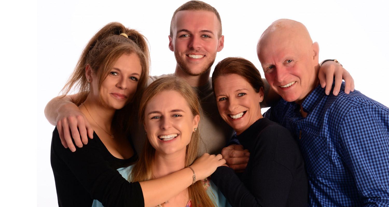 Family Portrait picture taken at Chilmington Studios Kent